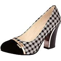 MisaKinsa Women Fashion Block High Heels Pumps Shoes Slip On