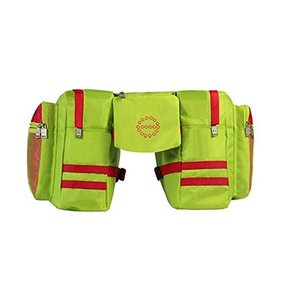 確保する分必要ない自転車パニエ自転車パニエトランクバッグ、大容量防水自転車後部座席パニエワイヤレスコントロールトランクライト付きサイクリングトリップ用フィット サドルバッグ?フレームバッグ (色 : 緑)