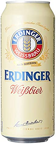 Erdinger Weissbier Wheat Beer Can, 500ml (Pack of 24)