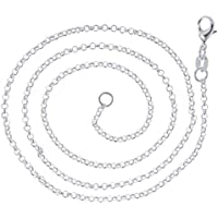 VPbao 2pcs Women Plated 925 Sterling Silver Cross Chain Necklace Set