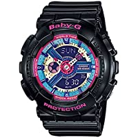 Casio Baby-G Analogue/Digital Female Black/Pink Multicoloured Watch BA-112-1A BA-112-1ADR