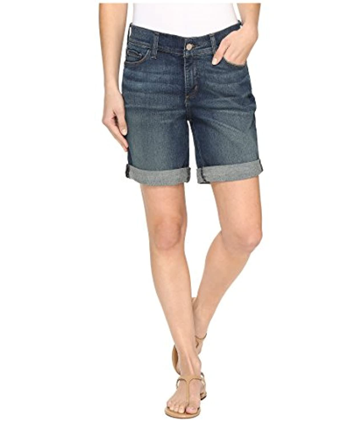 ユーモア増幅器忠実に[エヌワイディジェイ] NYDJ レディース Jessica Boyfriend Shorts in Oak Hill パンツ [並行輸入品]