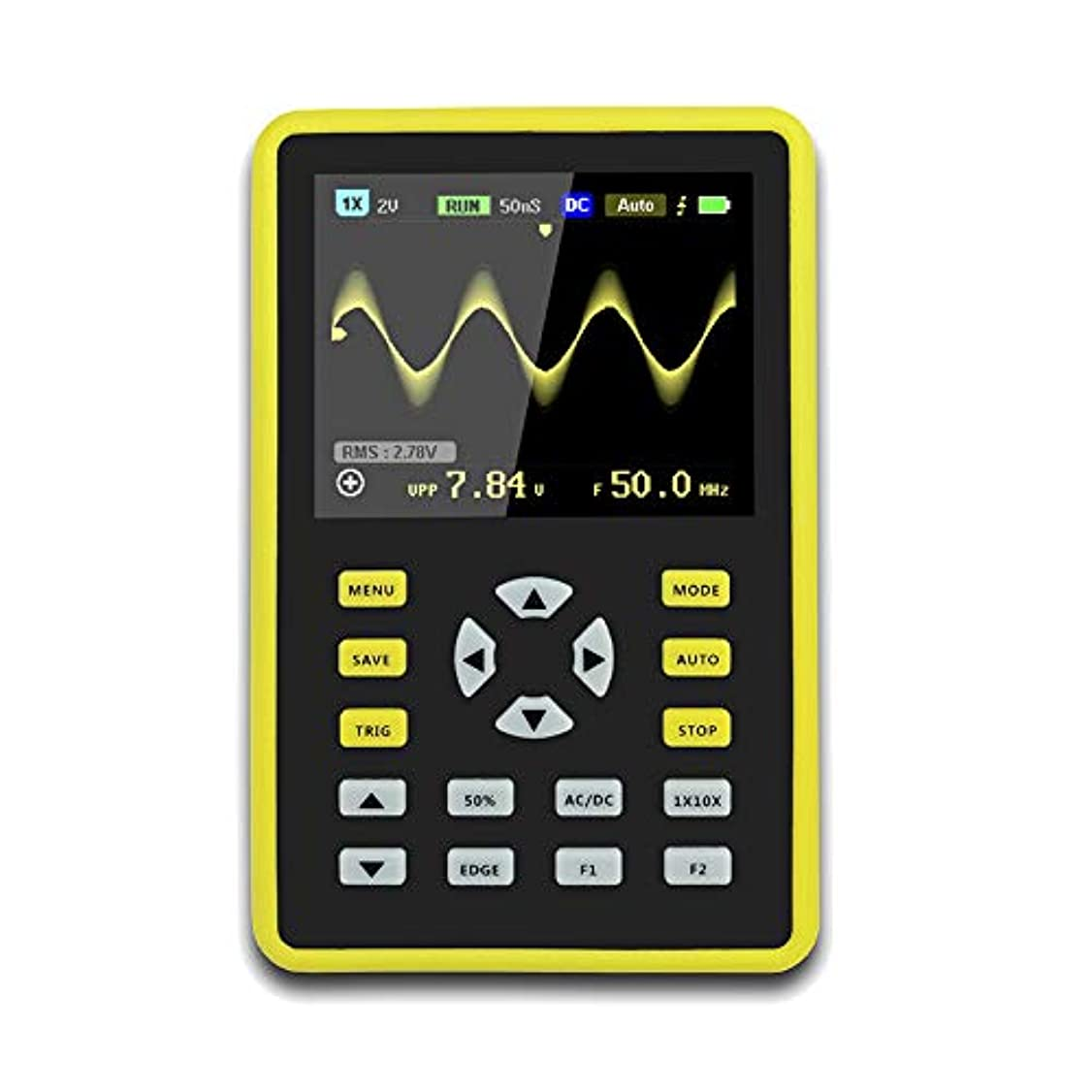 理想的セーブ投票CoolTack  手持ち型デジタル小型オシロスコープ2.4インチ500 MS/s IPS LCD表示スクリーンの携帯用