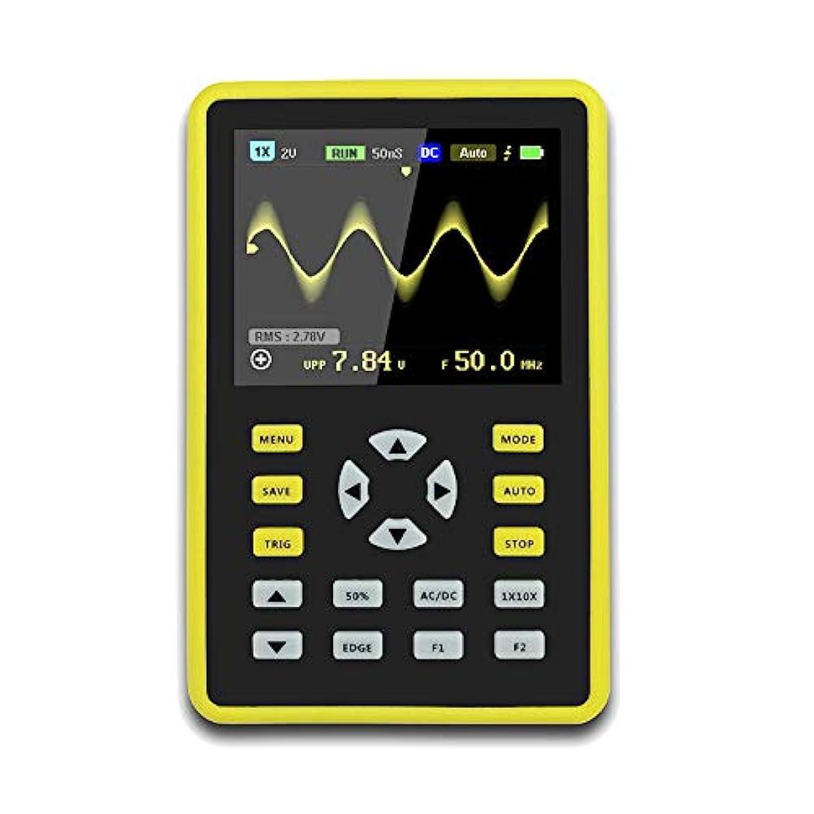自宅でエンドウ相互CoolTack  手持ち型デジタル小型オシロスコープ2.4インチ500 MS/s IPS LCD表示スクリーンの携帯用