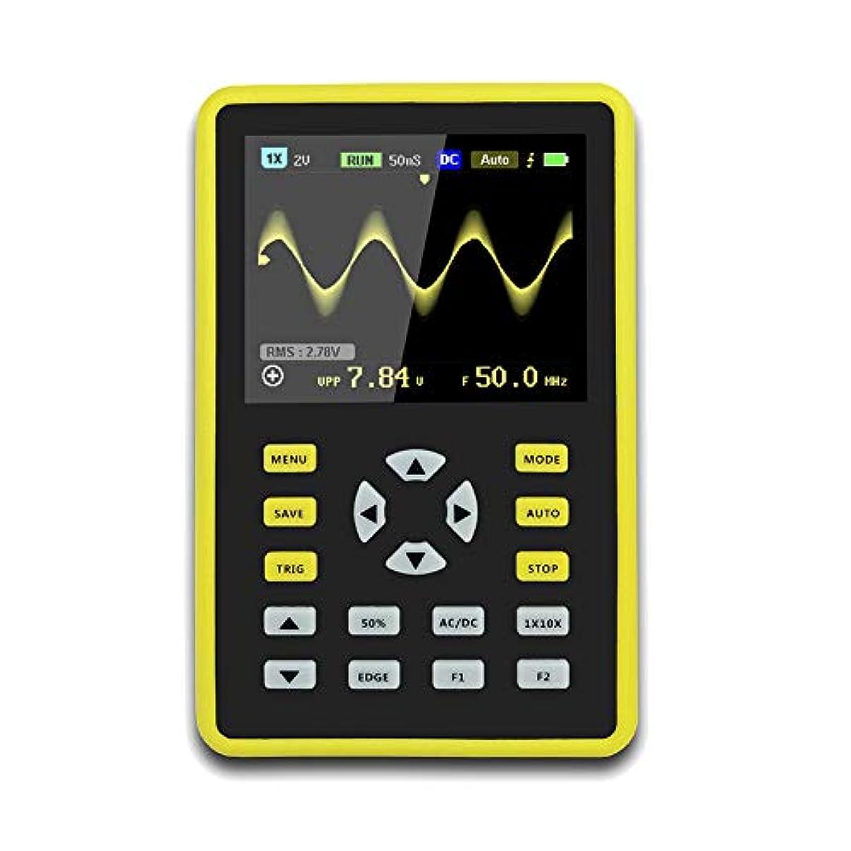 うがい薬テスト磁器Xlp  手持ち型デジタル小型オシロスコープ2.4インチ500 MS/s IPS LCD表示スクリーンの携帯用