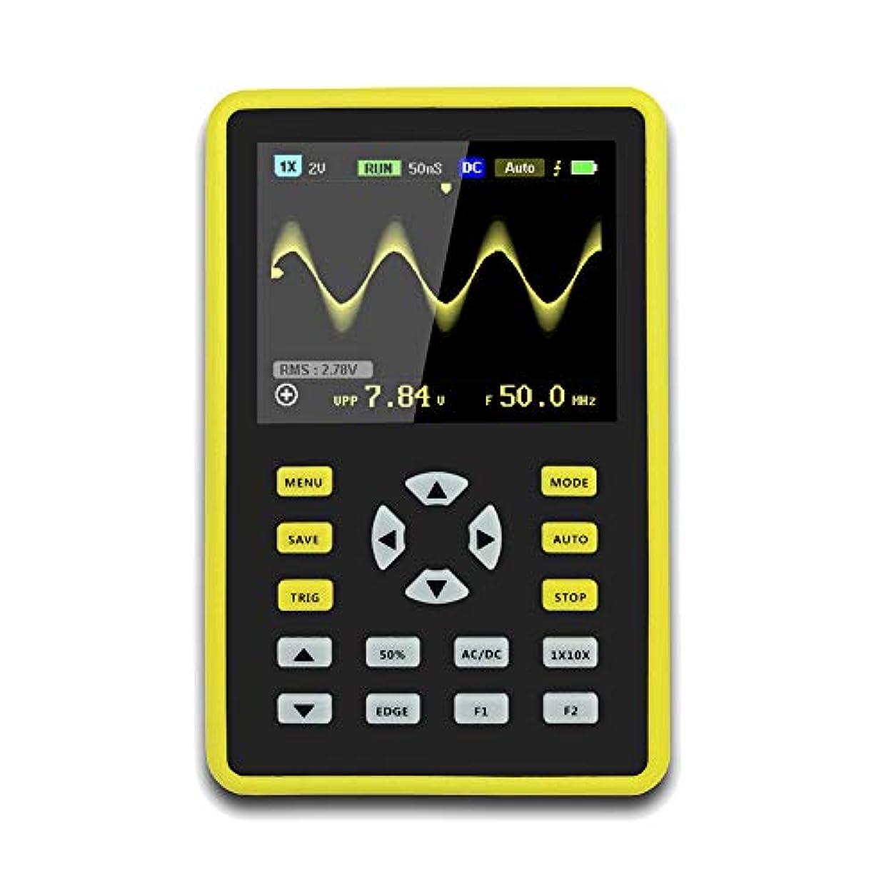 吹きさらし有害な評判CoolTack  手持ち型デジタル小型オシロスコープ2.4インチ500 MS/s IPS LCD表示スクリーンの携帯用