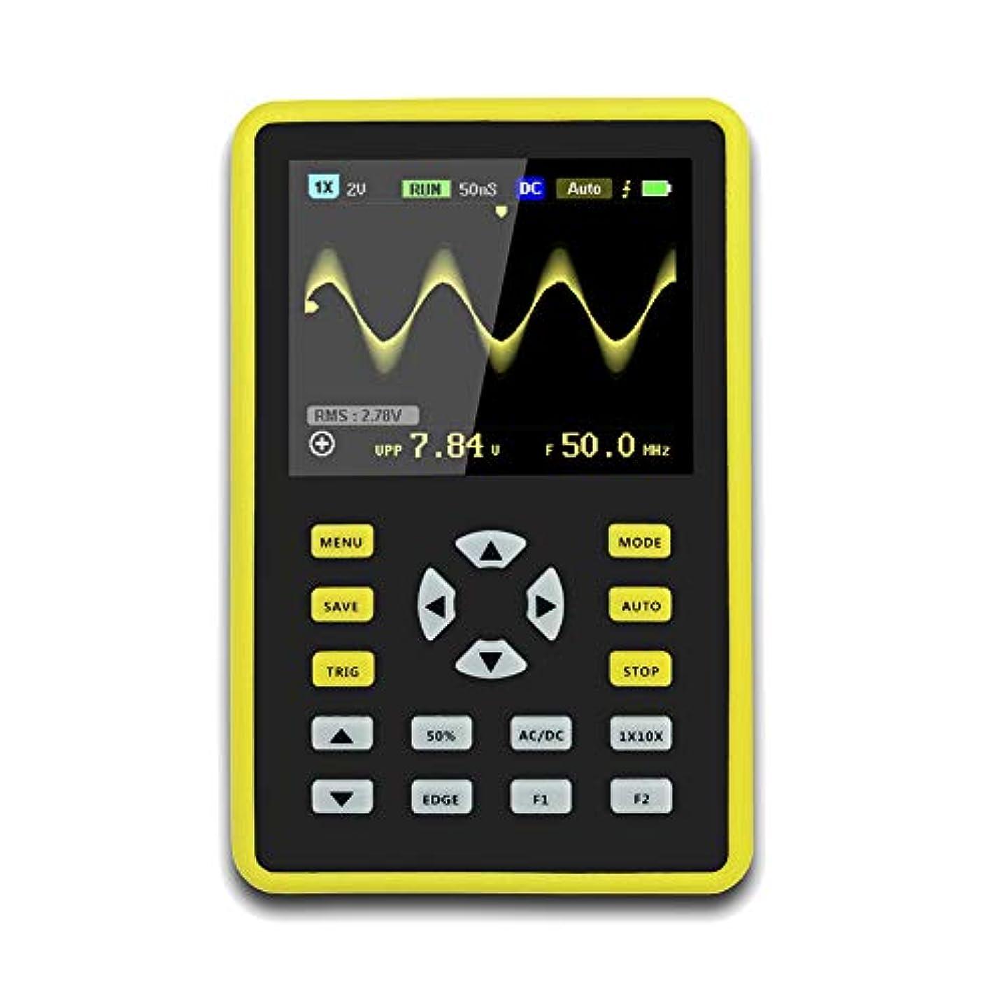 助けて抵抗永遠にCoolTack  手持ち型デジタル小型オシロスコープ2.4インチ500 MS/s IPS LCD表示スクリーンの携帯用