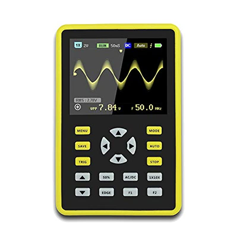 免疫する必要性子音JanusSaja  手持ち型デジタル小型オシロスコープ2.4インチ500 MS/s IPS LCD表示スクリーンの携帯用