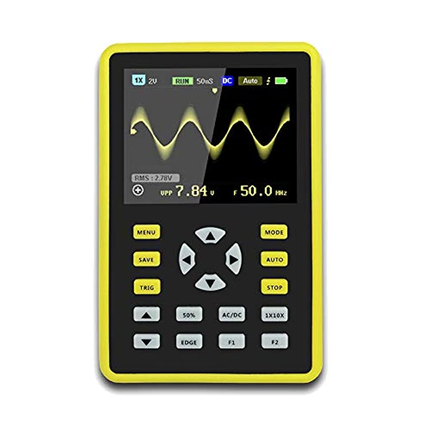 Funtoget  手持ち型デジタル小型オシロスコープ2.4インチ500 MS/s IPS LCD表示スクリーンの携帯用