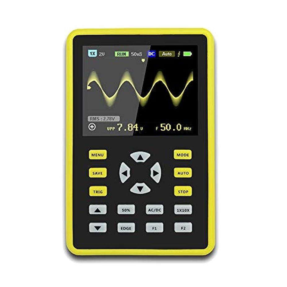 識字怒って熟練したJanusSaja  手持ち型デジタル小型オシロスコープ2.4インチ500 MS/s IPS LCD表示スクリーンの携帯用