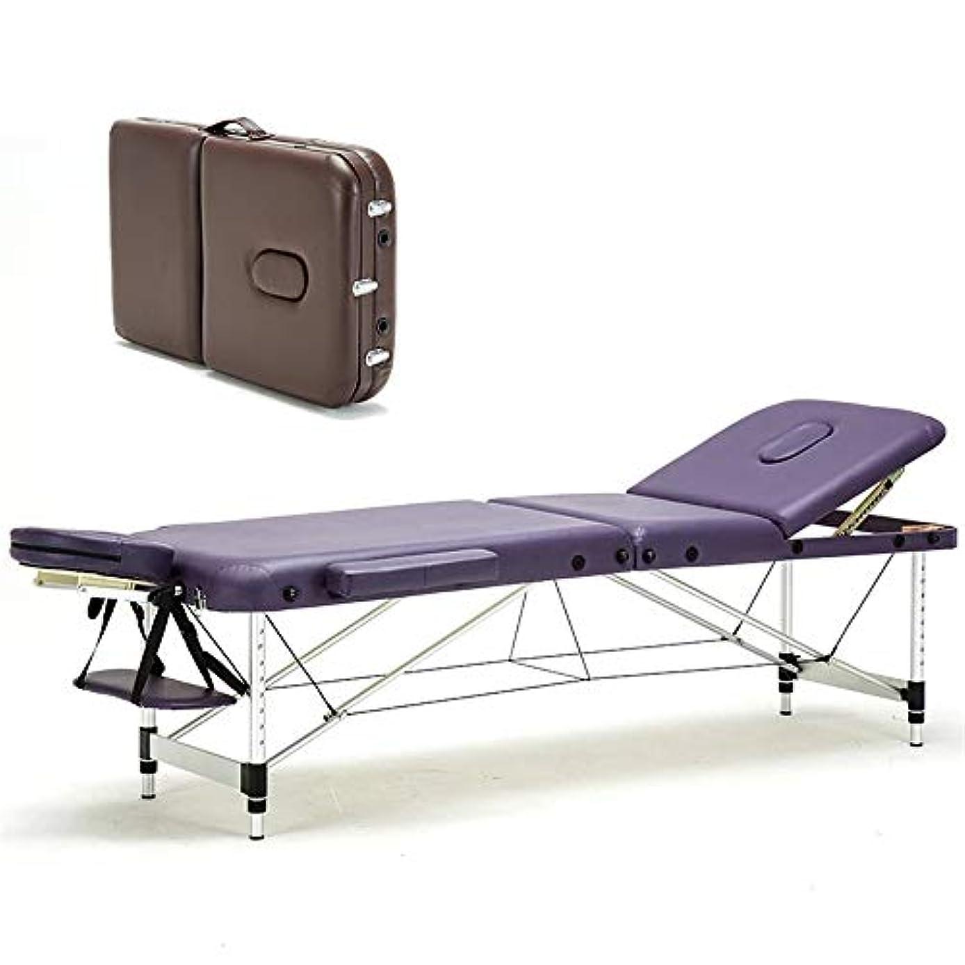 マラソン絶対にスリットポータブル折りたたみマッサージテーブル折りたたみベッドSPA美容ベッドサロン家具専門のマッサージテーブル,B