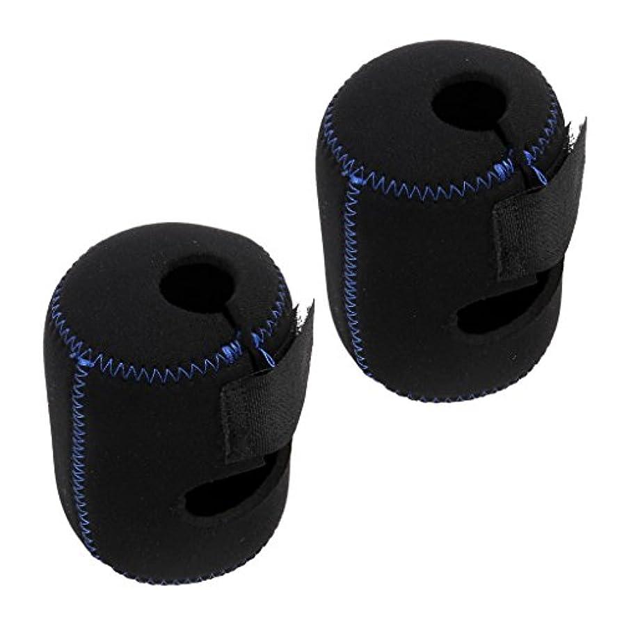 分数疾患コンバーチブルSONONIA 2個 耐久性 ネオプレン スピニング 釣りリールバッグフライ 保護 フライ フィッシング リール ポーチ カバー ホイール 収納袋