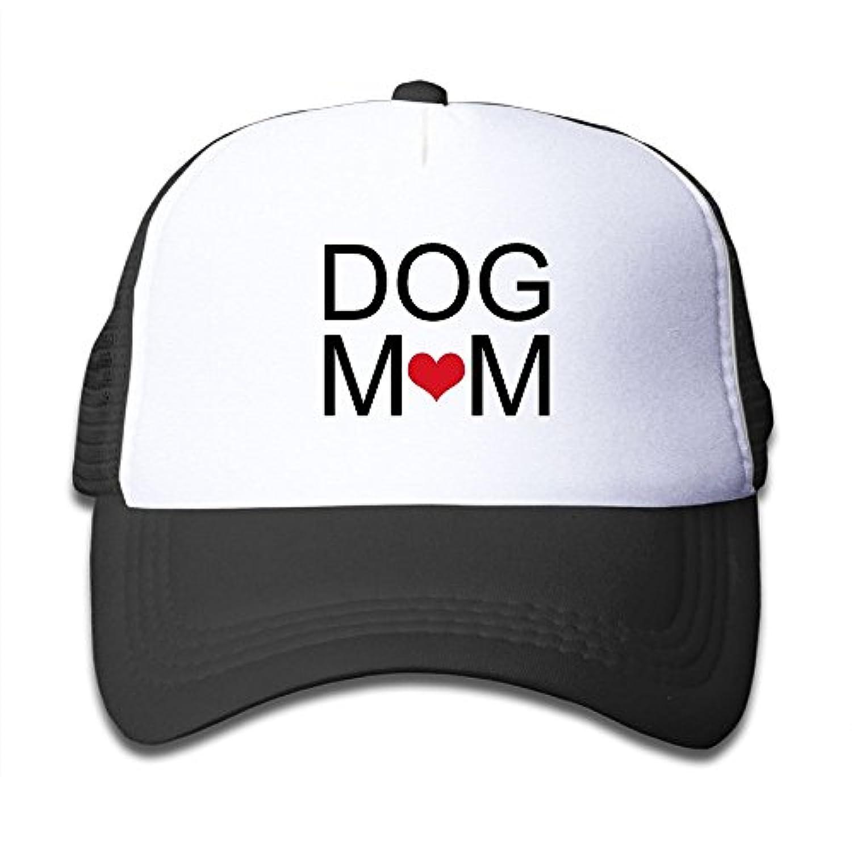 Dog Mom 素敵 かわいい おもしろい ファッション 派手 メッシュキャップ 子ども ハット 耐久性 帽子 通学 スポーツ