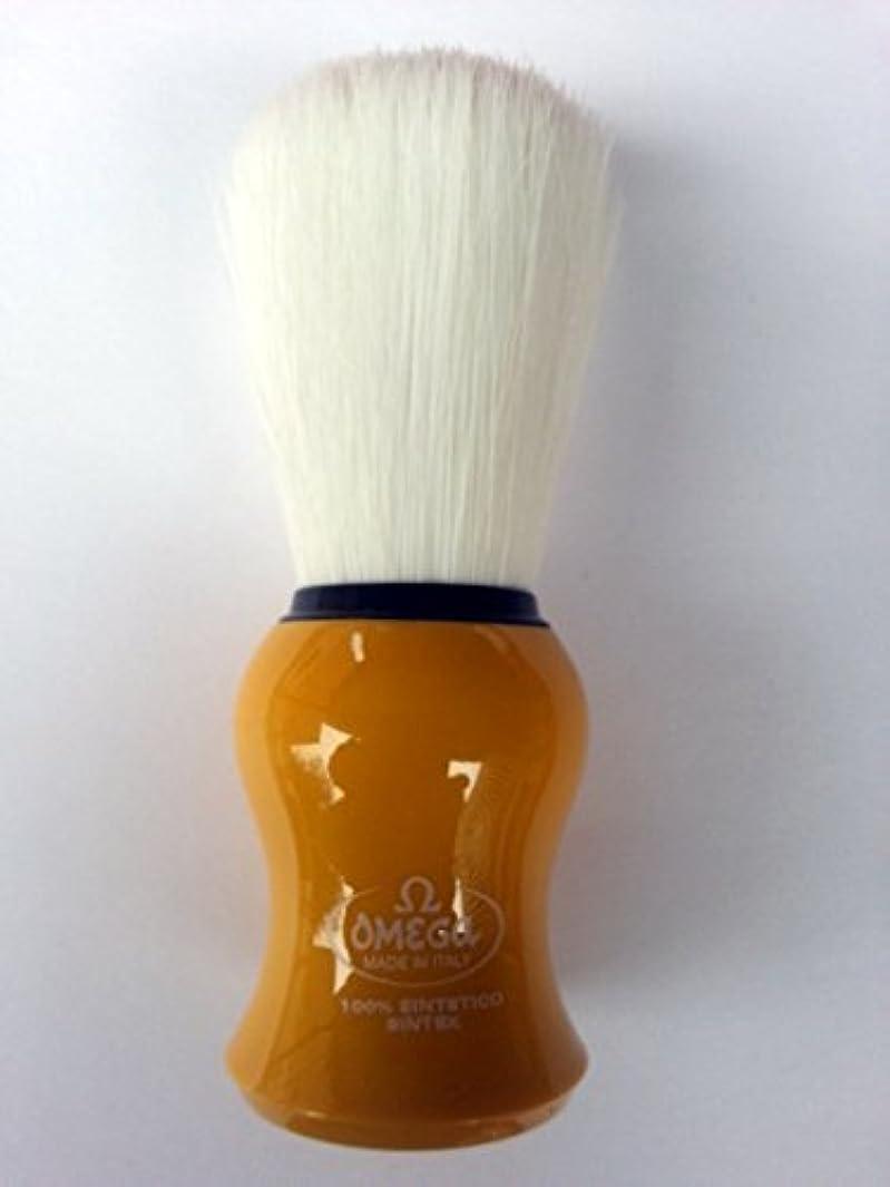 錆び減る車両Omega Shaving Brush # 90065 Syntex 100% Synthetic YELLOW [並行輸入品]