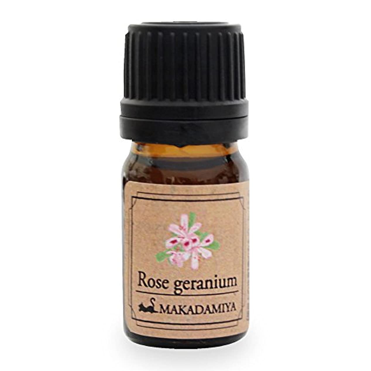 許される家禽ロゴローズゼラニウム5ml 天然100%植物性 エッセンシャルオイル(精油) アロマオイル アロママッサージ aroma Rose Geranium