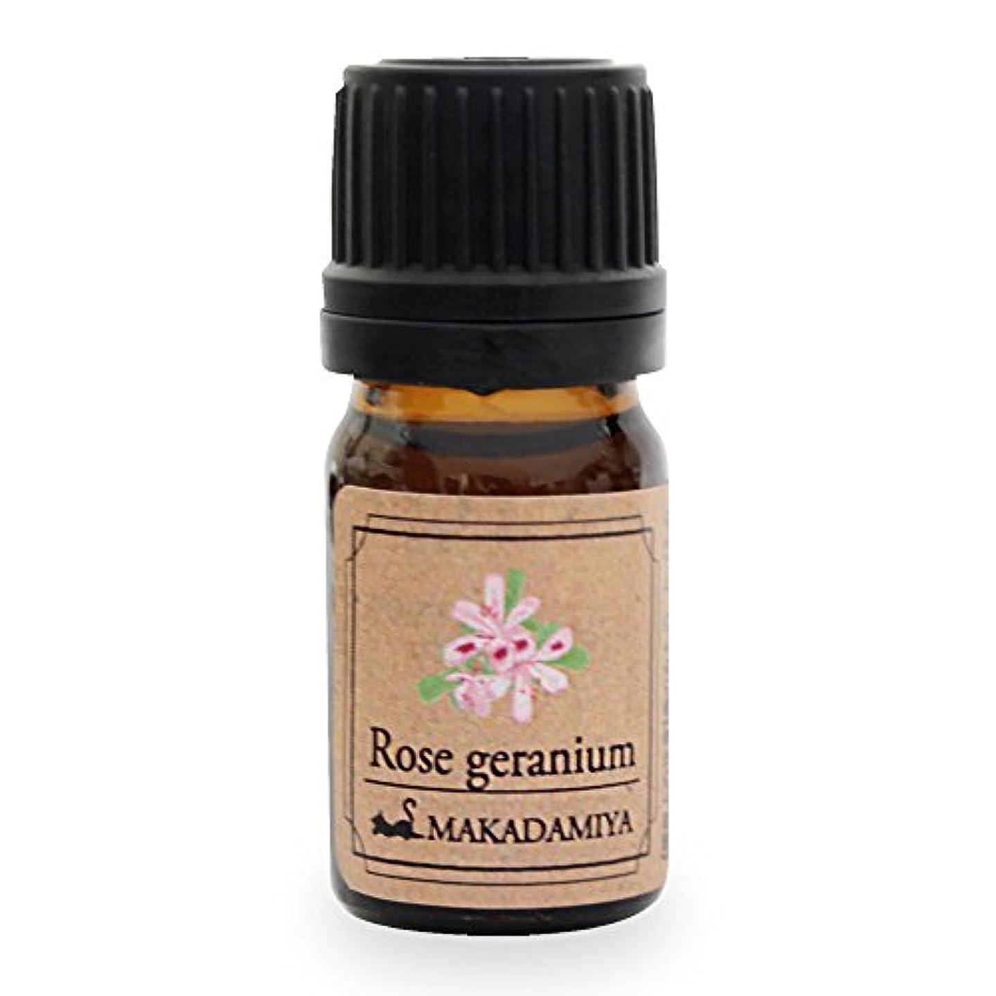 雑草噂香ばしいローズゼラニウム5ml 天然100%植物性 エッセンシャルオイル(精油) アロマオイル アロママッサージ aroma Rose Geranium