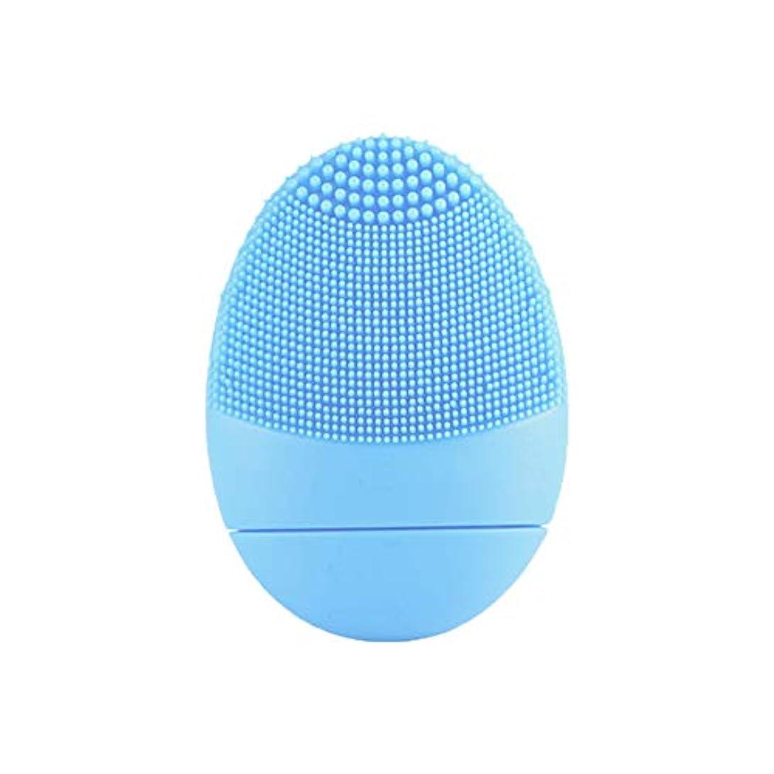 進化するどこでも化粧シリコーン洗浄器具、美容洗浄機、毛穴洗浄剤、家庭用電気洗浄器具-blue