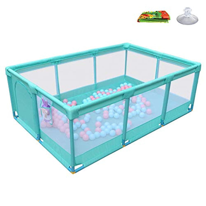 ベビーサークル, ポータブル幼児は、クロールマット、アンチコリジョンベビープレイペン、屋外/屋内セーフティアクティビティセンター - 66cmの高さで庭をプレイ (色 : Green, サイズ さいず : 10 Panel)