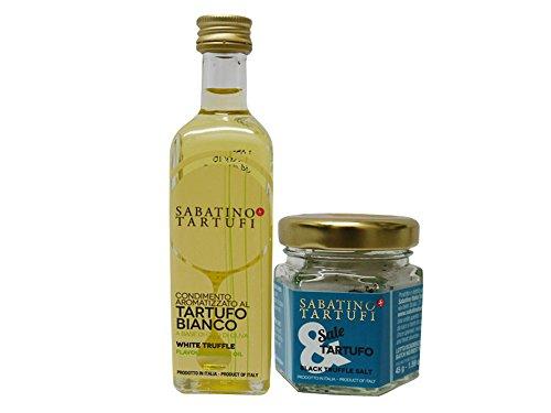 サバティーノ社 白トリュフオイル/黒トリュフ塩セット