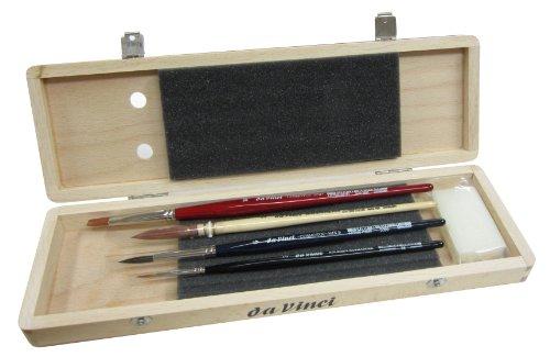 ダヴィンチ 水彩筆4本セット 木箱