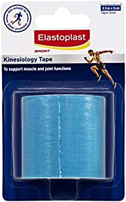 Elastoplast Sport - Kinesiology Tape Anti-Blister - 2.5m (blue), Blue 2.5m x 5cm80 grams