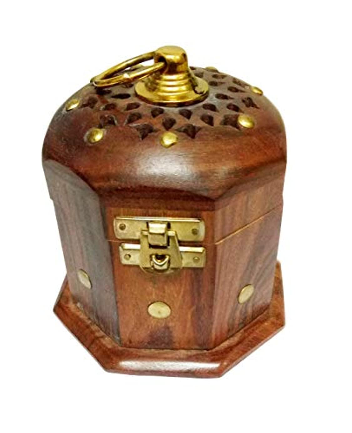 Sahishnu オンライン&マーケティング 木製クラシックムガール フープホルダー お香ホルダー