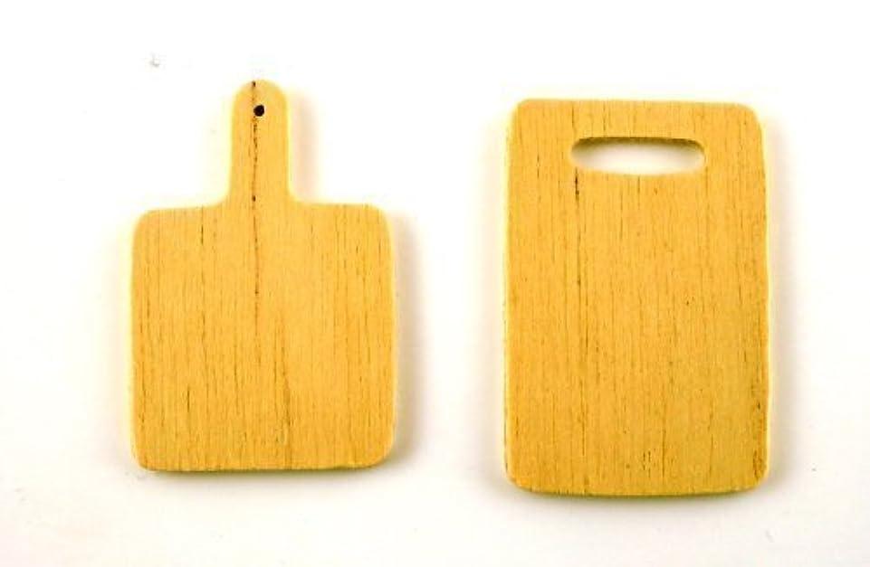 消防士スプリット宣言するDolls House Miniature Kitchen Accessory Wood Chopping Boards 5777