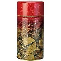 【茶筒・茶葉ストッカー】【わじま切金(赤)】 【内容量200g用 】