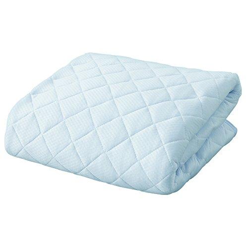 アイリスプラザ 敷きパッド 接触冷感 クール ひんやり ブルー シングル