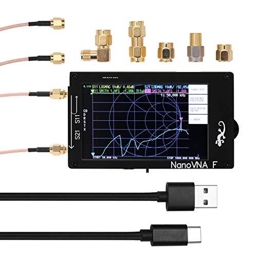 KKmoon ベクトルネットワークアナライザ SWRメーター50KHz-1000MHz アンテナ 4.3インチ IPS TFT タッチスクリーン 短波MF HF VHF アンテナアナライザー