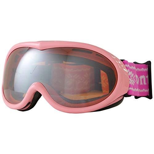 montagna(モンターニャ) スキーゴーグル ガールズ レディース 子供用 スノーゴーグル ピンク F