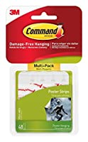 Command Poster Hanging Strips Value-Pack Small White 48-Pairs (17024-48ES) 【Creative Arts】 [並行輸入品]