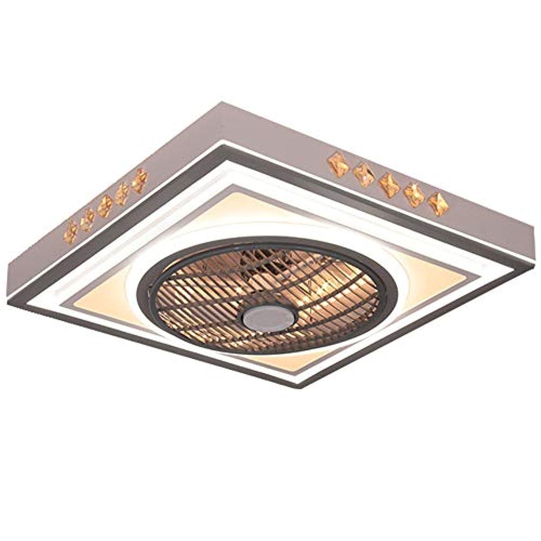 クラフト敏感な好戦的なライト不可視ブレードなしで天井のファン、ベッドルームリビングルームで使用されるLEDリモートコントロール3色の天井のファン、調節可能な風速と低い天井のファン、