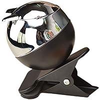 灰皿 - メタルバンドクリップ灰皿屋内または屋外灰皿と蓋クリエイティブデスクトップオフィスバーの家の装飾