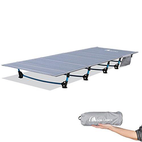 アウトドアベッド Moon Lence 折りたたみベッド キャンプコット 簡易 コンパクト 超軽量 防水 通気性 枕*収納ケース*キャリーバッグ付き 防水 通気性
