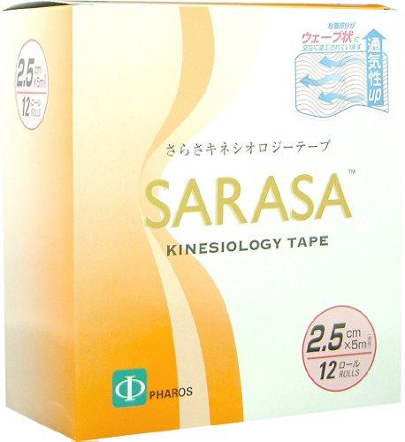 SARASA さらさ キネシオロジーテープ 2.5cm×5m 12巻入