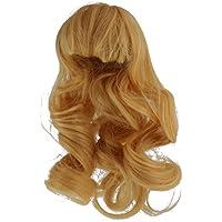 JiliオンラインLong Waveカーリーヘアウィッグ付け毛for 1 / 4 BJD SD人形アクセサリー – ブロンド