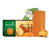 Biotique Bio Orange Peel Revitalizing Body Soapwith Pure Fruit & Vegetable Ex.(Ship from India)