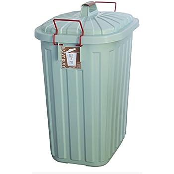 PALE×PAIL(ペールペール)お洒落な大容量ごみ箱45L~60L(日本製・3年間保証付き) (BLUE / GRAY)