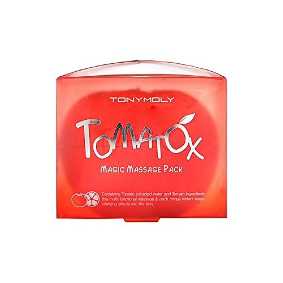 汚染されたやさしいピラミッドトニーモリー魔法マッサージパック80グラム x2 - Tony Moly Tomatox Magic Massage Pack 80G (Pack of 2) [並行輸入品]