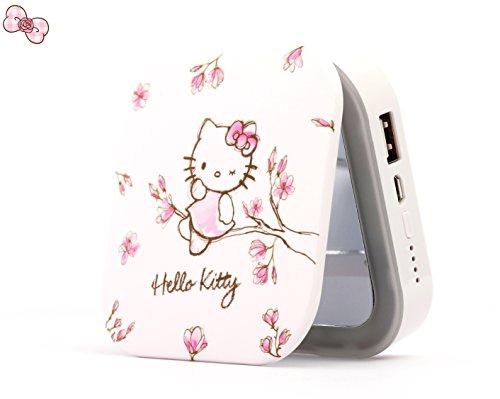 Rabendaco 化粧鏡 可愛い モバイルバッテリー コンパクト 6000mA  USBスマホ充電...