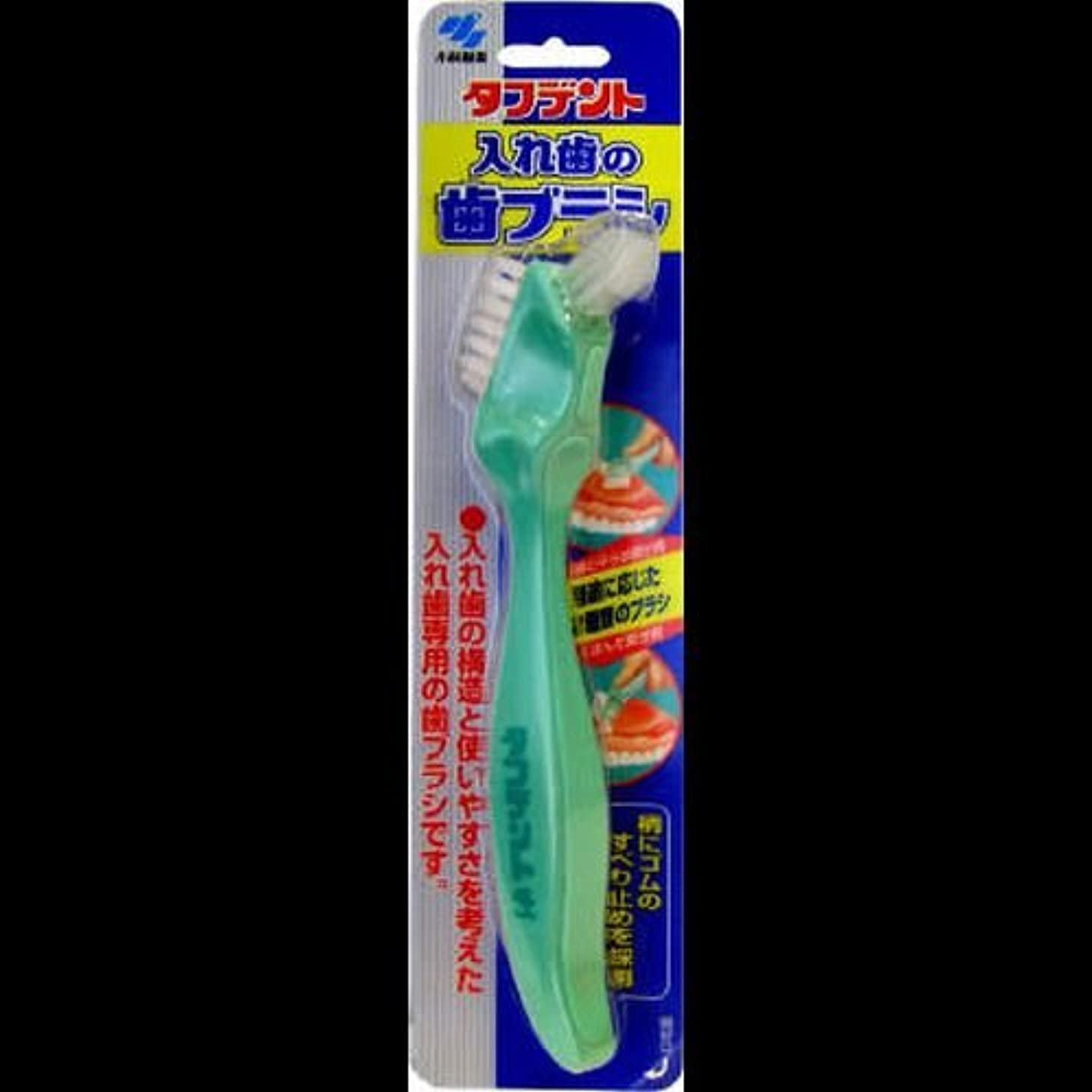 説明するカメ縁タフデント入れ歯の歯ブラシ 1本 ×2セット