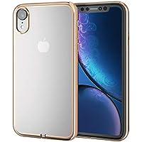 エレコム iPhone XR ケース 衝撃に強いTPU素材 サイドメッキ加工 【上品な輝きが、iPhoneをリッチに魅せる】 ゴールド PM-A18CUCTMGD