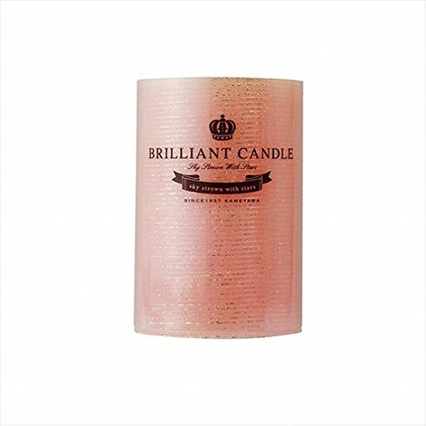 肘動機昼食カメヤマキャンドル(kameyama candle) ブリリアントピラー2×3 「 コーラル 」