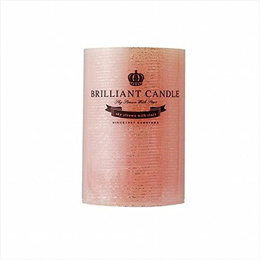 ドラゴンベリー予報カメヤマキャンドル(kameyama candle) ブリリアントピラー2×3 「 コーラル 」