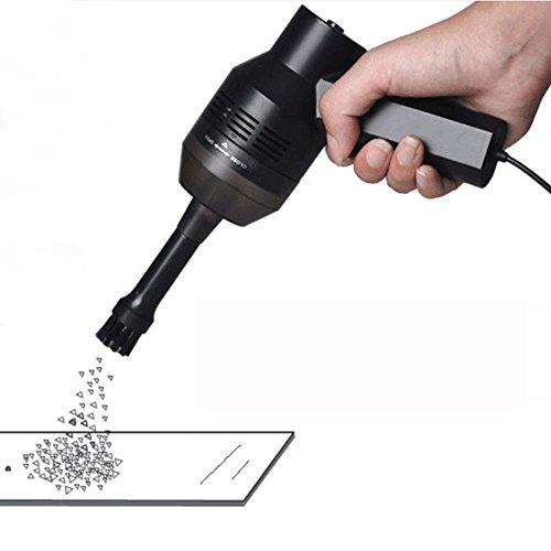 Best Choose USBミニクリーナー 卓上ブラシ ノートパソコ キーボード ハンディクリーナー USB給電 除塵 ハンディ掃除機 強力吸引 掃除機 きノズル PCキーボード掃除機 ブラック YBC-016S