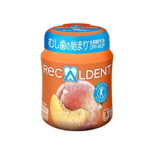 モンデリーズ リカルデントホワイトピーチミントガム(粒) ボトルR 140g ×6個
