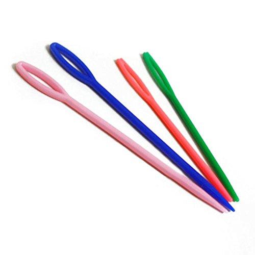 SODIAL(R)20pcs2サイズの子供のプラスチックの裁縫の針