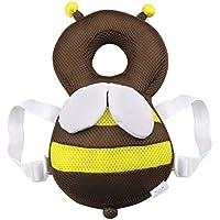 WIMAHA 赤ちゃんのごっつん防止やわらかリュック 適用月齢6ヶ月~24ヶ月 転倒防止 メッシュ 頭 保護 可愛ミツバチリュック