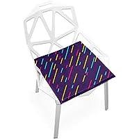 座布団 低反発 線 流れ星 ビロード 椅子用 オフィス 車 洗える 40x40 かわいい おしゃれ ファスナー ふわふわ fohoo 学校